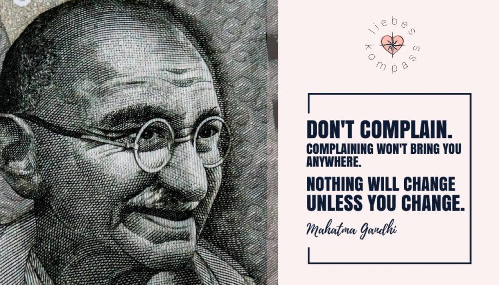 Gandhi sich beschweren emotionale Distanz