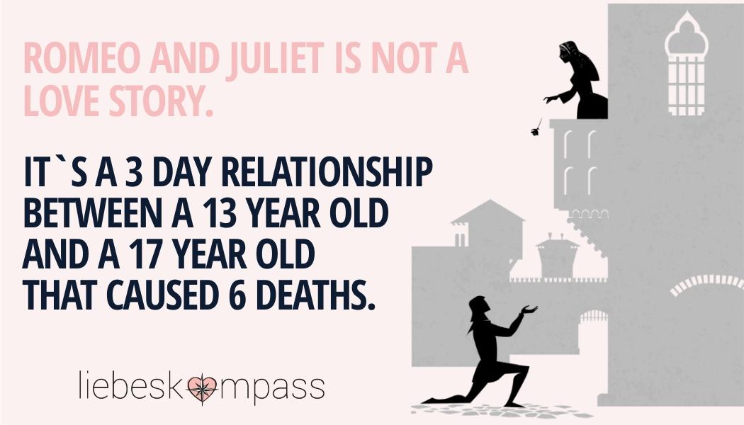 romantische Liebe Romeo und Julia