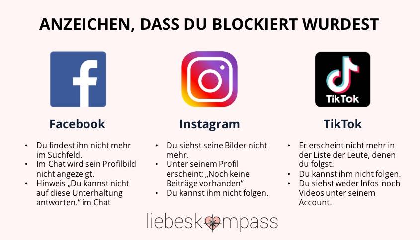 er hat mich blockiert auf Instagram Facebook tiktok